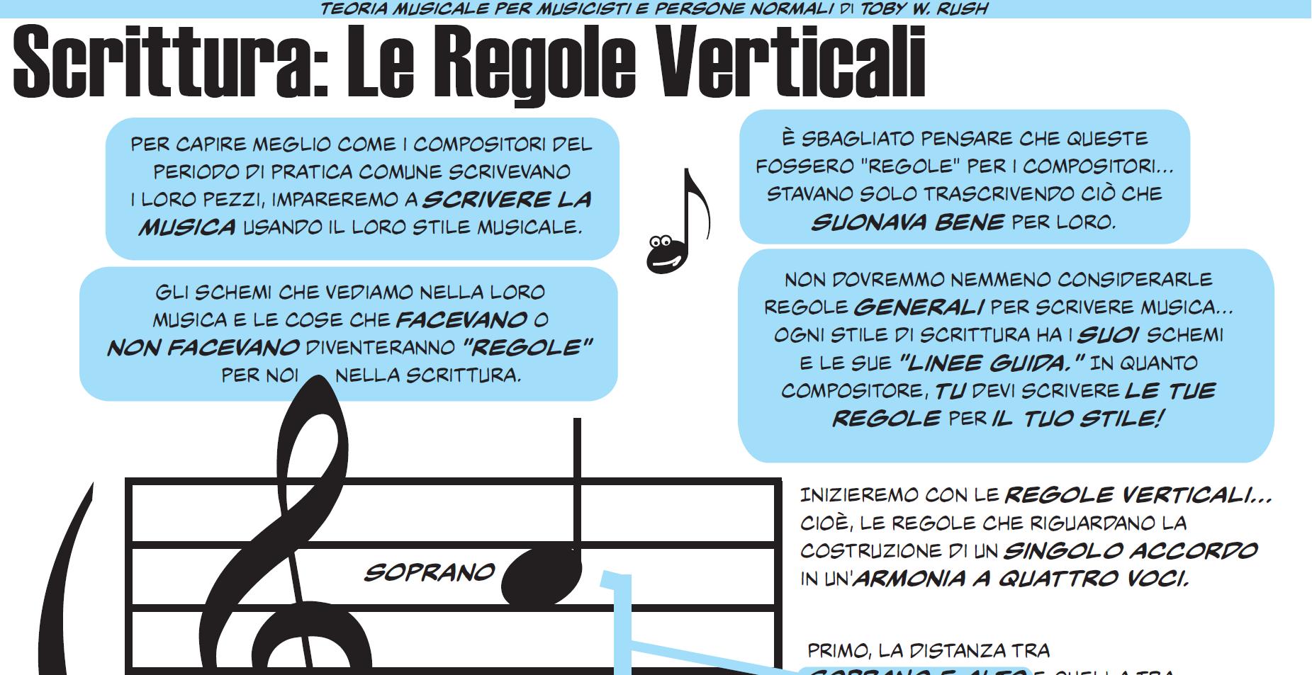 Scrittura: le regole verticali